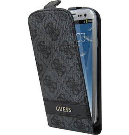 Guess flipové púzdro GUFLS44GG pre Samsung Galaxy S4 i9500/i9505, Šedá