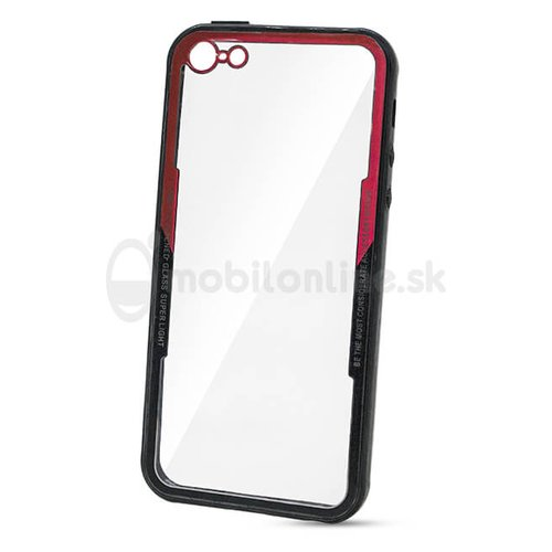 Puzdro Glass Tough TPU 1mm iPhone 5/5s - červené