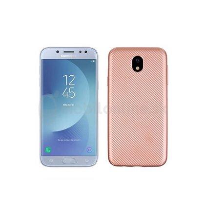 Puzdro Carbon Fiber TPU Samsung Galaxy J5 J530 - ružovo-zlaté