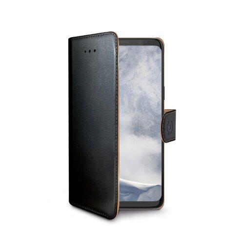 Puzdro typu kniha CELLY Wally pre Samsung Galaxy S9, PU koža, čierne