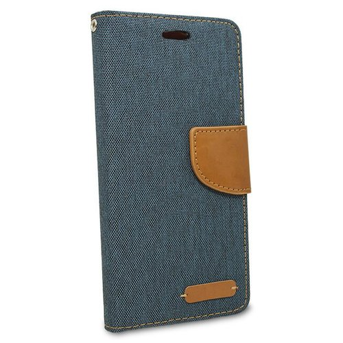 Puzdro Canvas Book Samsung A6 A600 - tmavo-modré