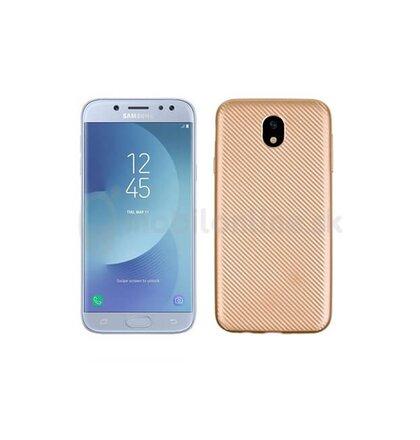 Puzdro Carbon Fiber TPU Samsung Galaxy J5 J530 - zlaté
