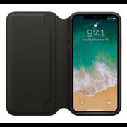 Apple iPhone X Leather Folio - Black MQRV2ZM/A