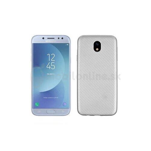 Puzdro Carbon Fiber TPU Samsung Galaxy J5 J530 - strieborné