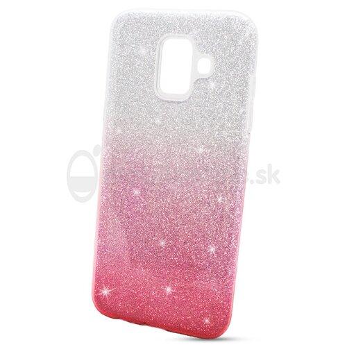 Puzdro 3in1 Shimmer TPU Samsung Galaxy A6 A600 - strieborno-ružové