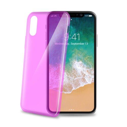 TPU puzdro CELLY Ultrathin pre Apple iPhone X/XS, ružové