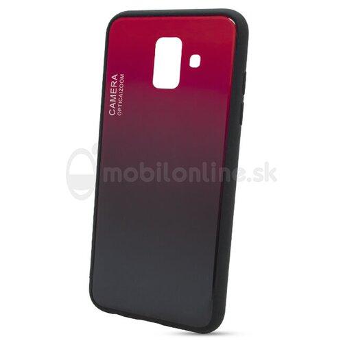Puzdro Gradient Glass TPU Samsung Galaxy A6 A600 - červené