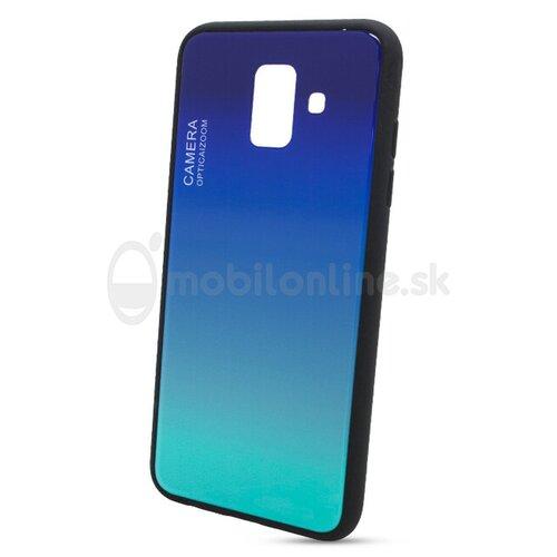 Puzdro Gradient Glass TPU Samsung Galaxy A6 A600 - modré