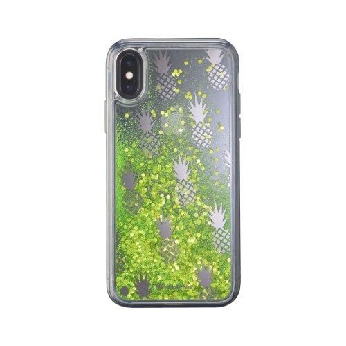 Gelové púzdro CellularLine Stardust pre Apple iPhone X/XS, motív Pineapple