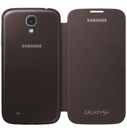 EF-FI950BAE Samsung Flip Case for Galaxy S4 i9500/S4 i9505 hnedé (EU Blister)