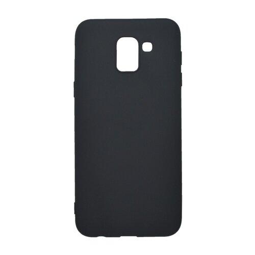 Matné gumené puzdro Samsung Galaxy J6 2018 čierne
