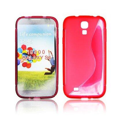 Gumené puzdro Samsung i9500 Galaxy S4 tm. cervena