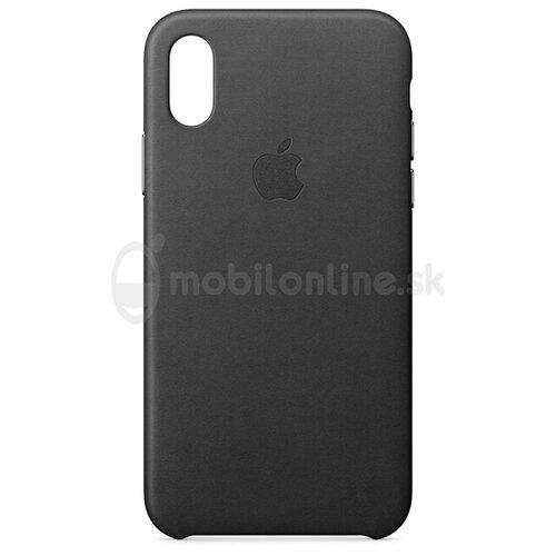 Puzdro Apple iPhone X Leather MQTD2ZM/A - black