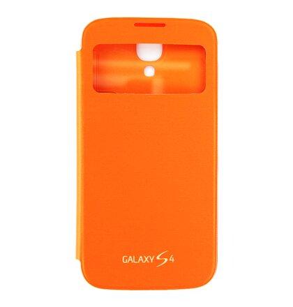EF-CI950BOE Samsung Flip Pouzdro S-View pro Galaxy S IV i9500/i9505/i9515VE Orange (EU Blister)
