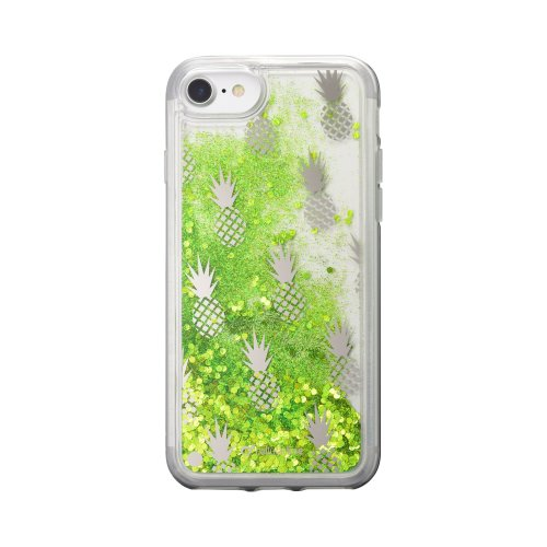 Puzdro Shimmer Design Cellularline Stardust TPU iPhone 6/6s/7/8 - ananás