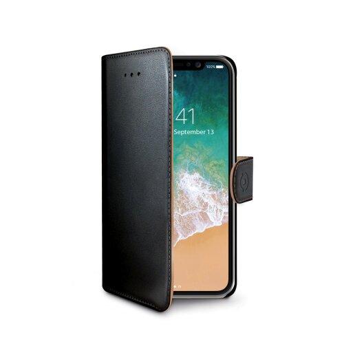 Puzdro CELLY Wally Book Apple iPhone X/XS (PU koža) - čierne