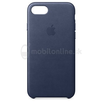 Puzdro Apple Leather iPhone 8/7 MQH82ZM/A - midnight blue