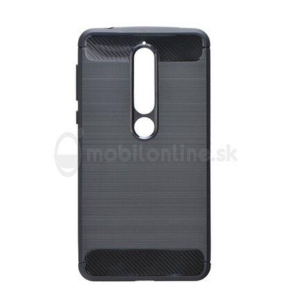 Puzdro Carbon Lux TPU Nokia 6.1 2018 - čierne