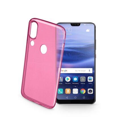 Barevné gélové puzdro CellularLine COLOR pre Huawei P20 Lite, ružové