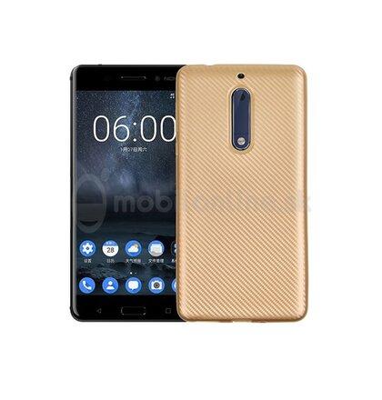 Puzdro Carbon Fiber TPU Nokia 5 - zlaté