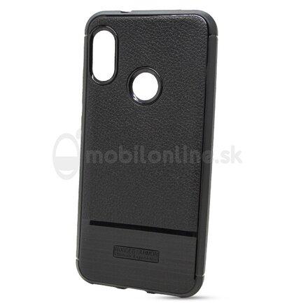 Puzdro Rugged Carbon TPU Xiaomi Mi A2 Lite/Redmi 6 Pro - čierne