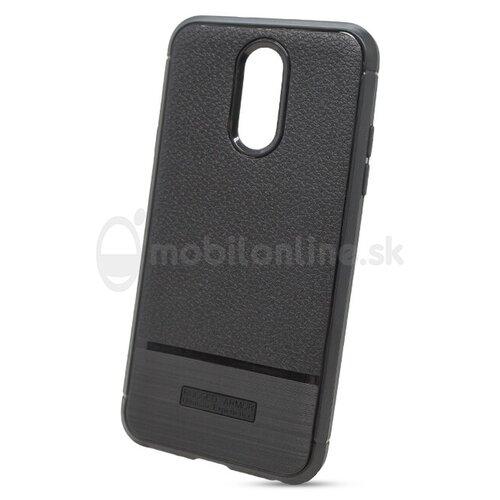 Puzdro Puzdro Carbon Rugged TPU LG Q7 - čierne