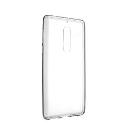Ultratenké TPU gélové puzdro FIXED Skin pre Nokia 5, 0,6 mm, číre