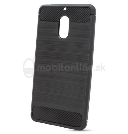 Puzdro Carbon Lux TPU Nokia 6 - čierne