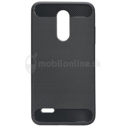 Puzdro Carbon LUX TPU LG K10 2018/K11 - čierne