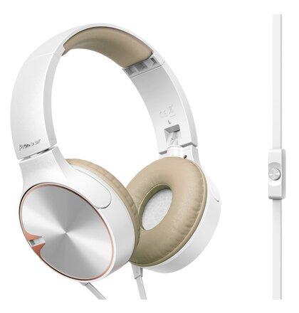 Pioneer styl. náhlavní sluchátka s mikrofon. béžová