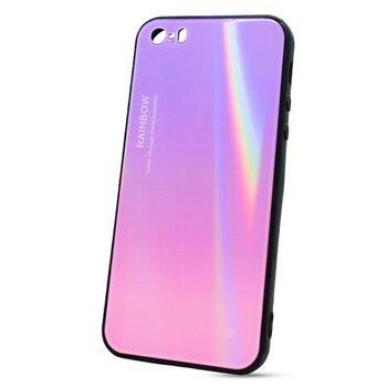 Puzdro Rainbow Glass TPU iPhone 5/5s/SE - ružové