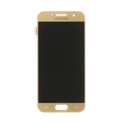 Samsung A320 Galaxy A3 2017 - LCD Displej + Dotyková Plocha - Zlatý (Service Pack)