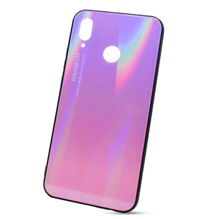 Puzdro Rainbow Glass TPU Huawei P20 Lite - ružové