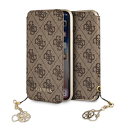 GUFLBKPXGF4GBR Guess Charms Book Pouzdro 4G Brown pro iPhone X / XS