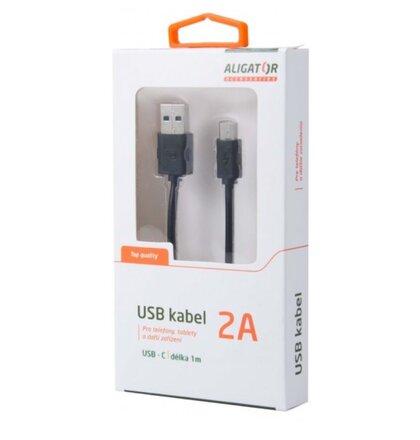 Kábel Aligátor USB-C s predĺženým konektorom  2A - vhodný pre odolné telefóny
