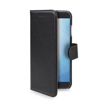 Pouzdro typu kniha CELLY Wally pre Apple iPhone XR, PU kože, čierne