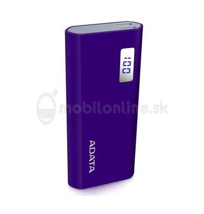 A-DATA Power Bank P12500D, 12500mAh, fialová