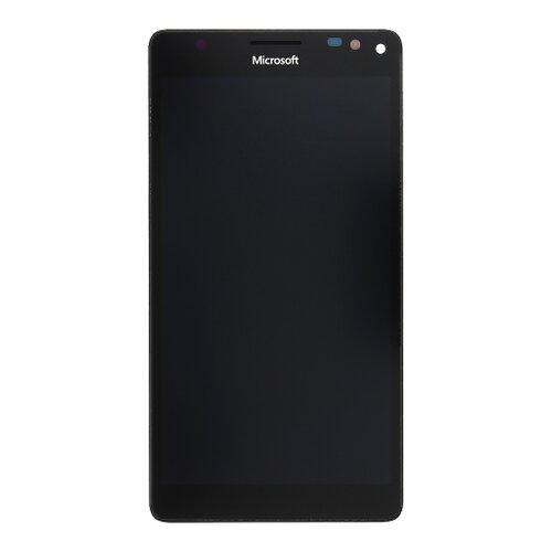 Microsoft Lumia 950 XL - LCD Displej + Dotyková Plocha + Sklíčko s Rámom - Čierny