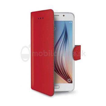 Pouzdro typu kniha CELLY Wally pre Apple iPhone XS Max, PU kože, červené