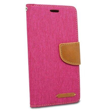 Puzdro Canvas Book Huawei Mate 20 Lite - ružový