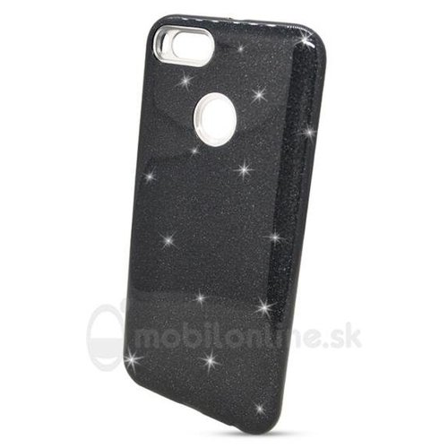 Puzdro Shimmer Case TPU Huawei Y7 - čierne