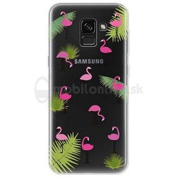 Puzdro 4-OK TPU Samsung Galaxy A8 2018 - flamingos