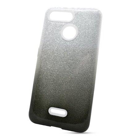 Puzdro Shimmer 3in1 TPU Xiaomi Redmi 6/6A - strieborno-čierne