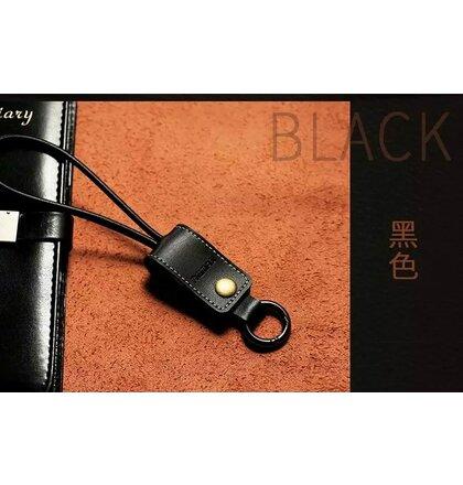 Remax Western Kožený Datový Kabel Black pro iPhone 5/5S/6/6 Plus