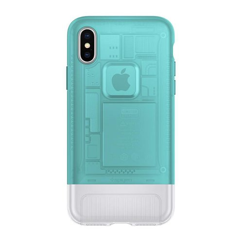 Spigen Classic C1 Cover pro iPhone X Bondi Blue (EU Blister)