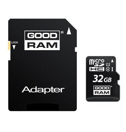 32 GB . microSDHC karta GOODRAM Class 10 UHS I + adapter