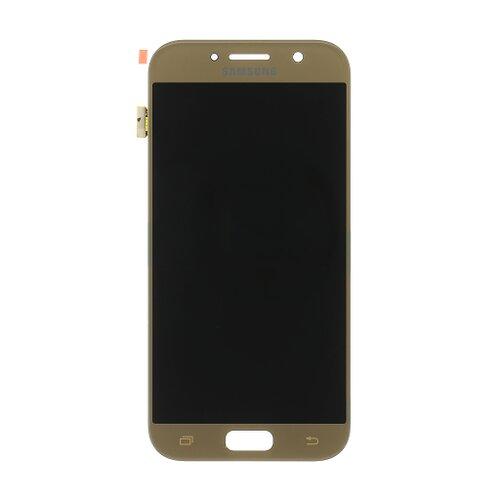 Samsung A520 Galaxy A5 2017 - LCD Displej + Dotyková Plocha - Zlatý (Service Pack)