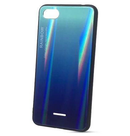 Puzdro Rainbow Glass TPU Xiaomi Redmi 6A - modré