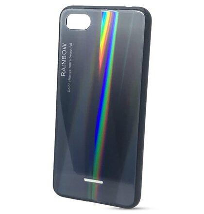 Puzdro Rainbow Glass TPU Xiaomi Redmi 6A - čierne
