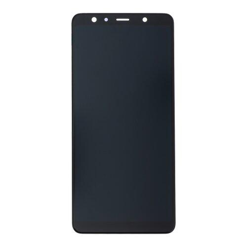 Samsung A750 Galaxy A7 2018 - LCD Displej + Dotyková Plocha - Čierny (Service Pack)